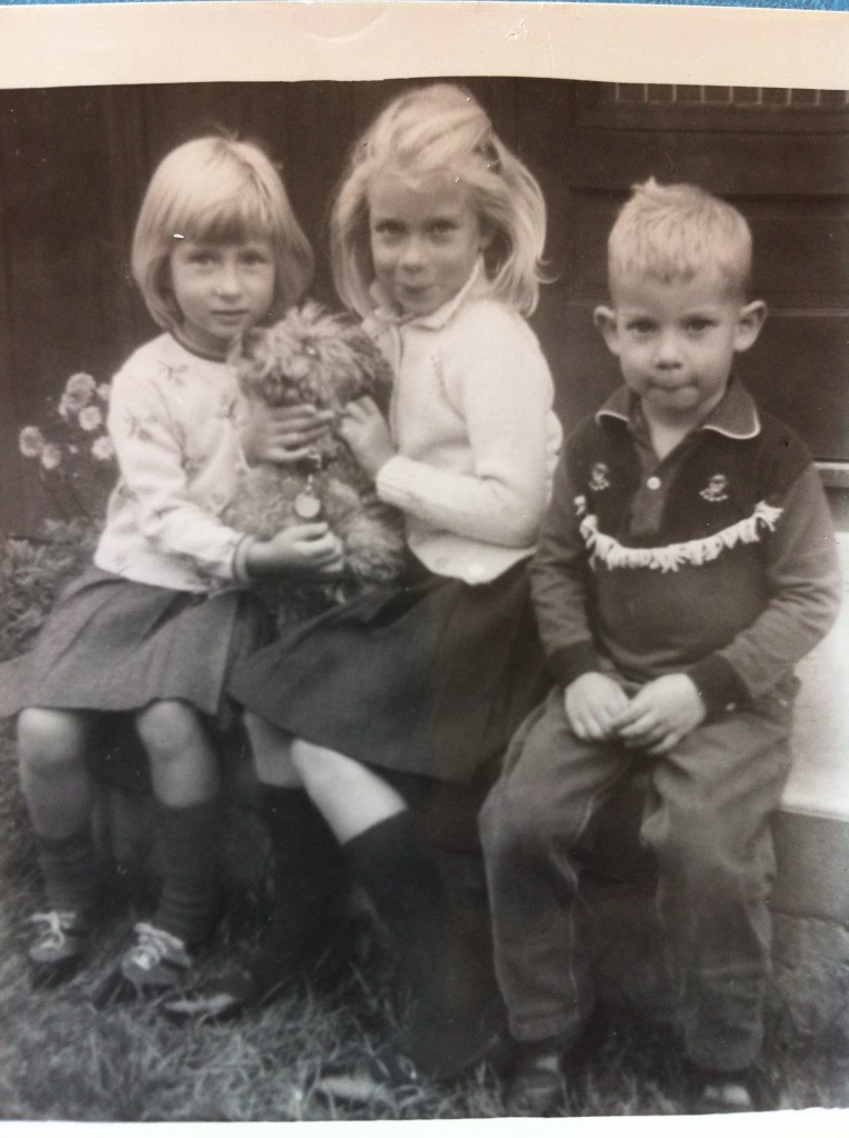 My siblings and I with our beloved childhood dog, Poppy. Dog, dogs, pets, pet, animals, pet-lover, border-collie, Trueheartgal.