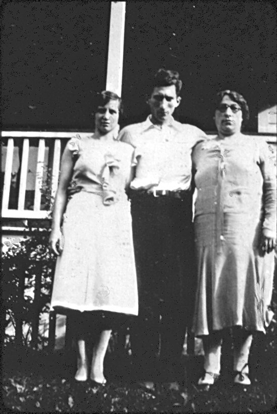 Grandma, with her husband and mother-in-law, Concetta Polidora.