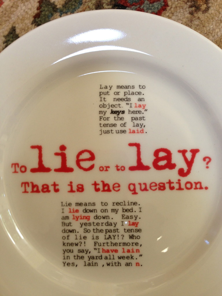 Grammar plate.