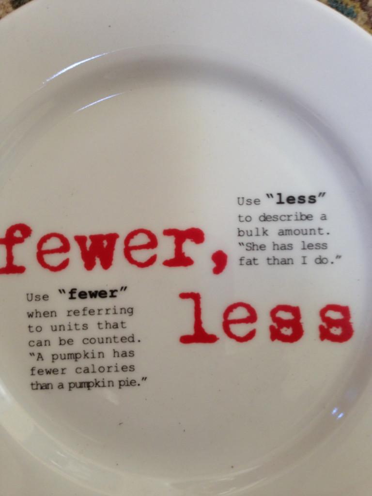 Fewer vs. Less