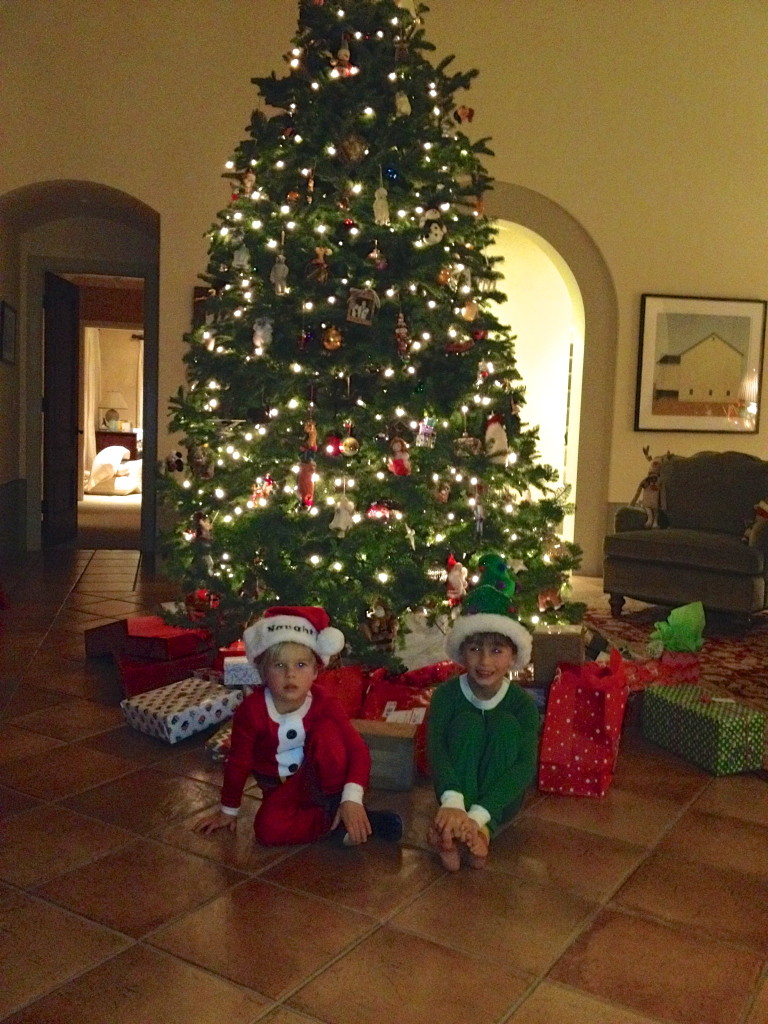 Christmas tree, elves, grandchildren