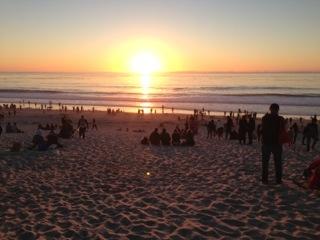 Sunset in Carmel.