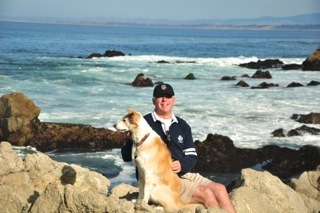Hubby and Mia on the breathtaking 17 Mile Drive.