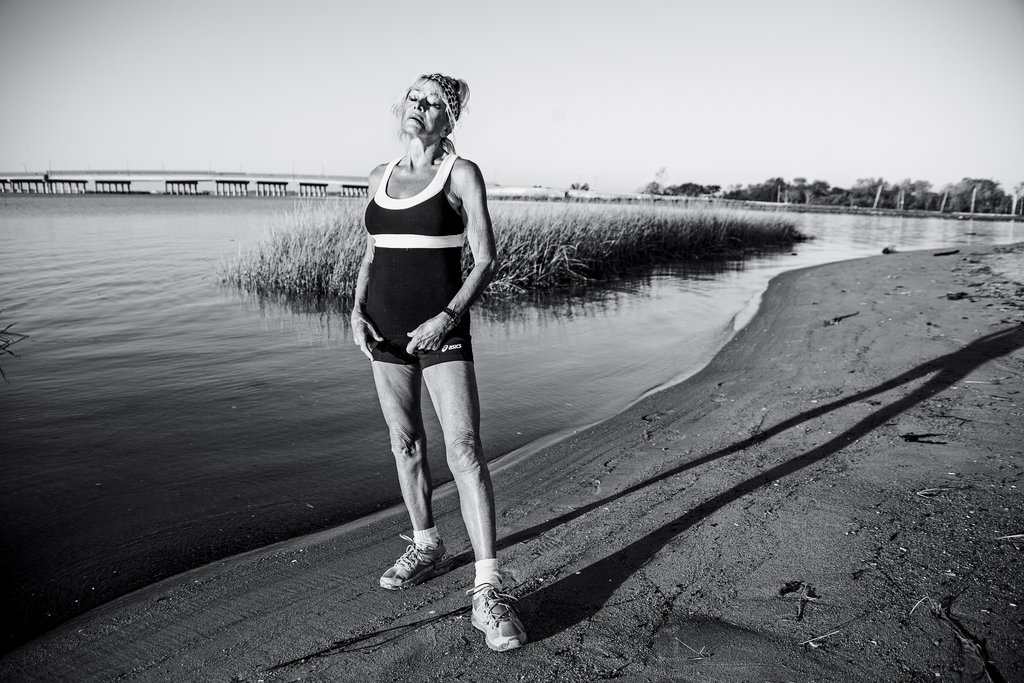 Ginette Bedard, 81, long distance runner. Photo by Erik Madigan Heck, from the NYTimes.