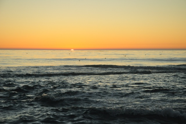 Setting sun in Carmel
