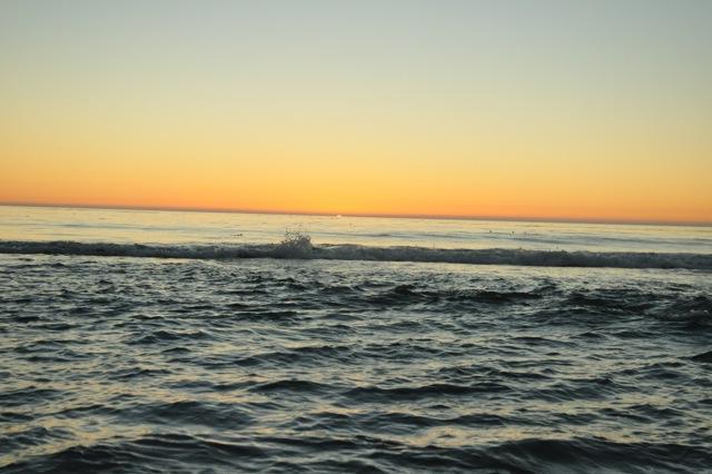 The sun is set at Ocean Beach in Carmel.