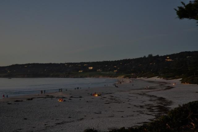 Bonfires on the Beach in Carmel.