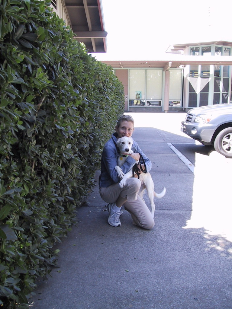 Adopting our new puppy from the Marin Humane Society.