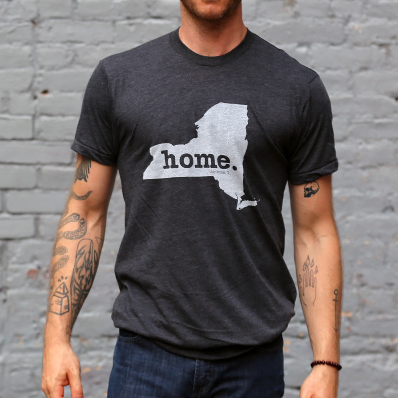 T-shirt with a map of your home state on it, from the Home-t store. This one is of New York.