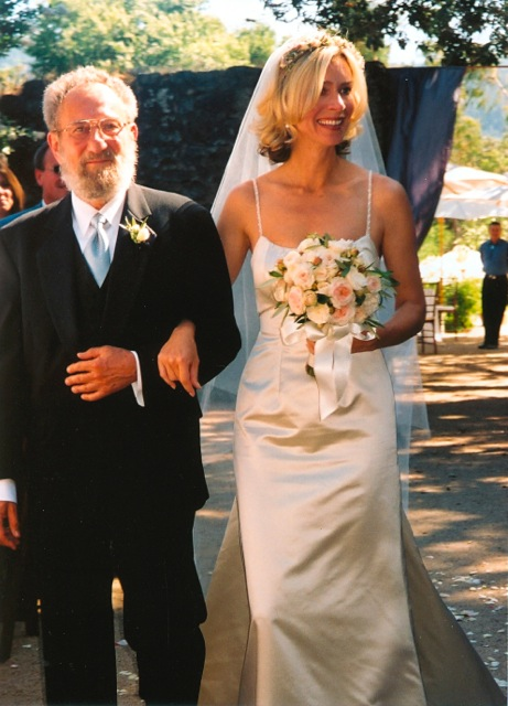 Me and my Father at my wedding at Annadel Winery in Sonoma. Father's Day Gift Guide Trueheartgal