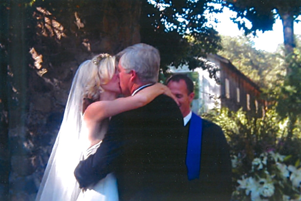 Kiss at our wedding ceremony