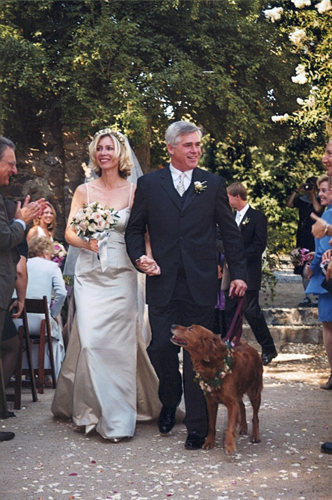 Our wedding picture at Annadel Winery.