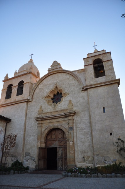 The edifice of the Carmel Mission in Carmel-by-the-Sea
