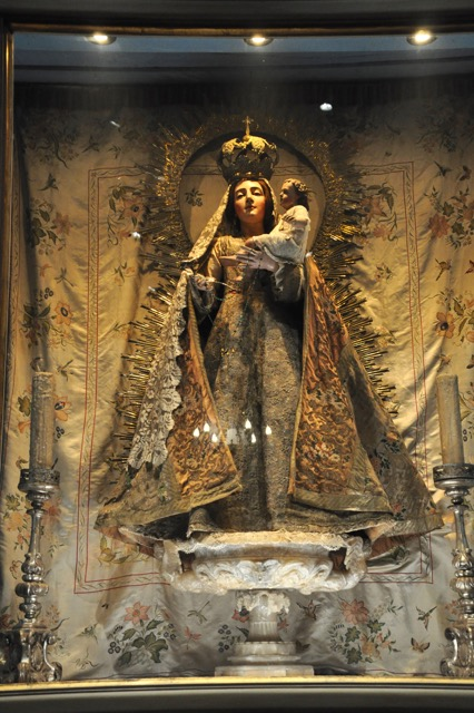Our Lady of Bethlehem statue in the Carmel Mission, in Carmel-by-the-Sea.