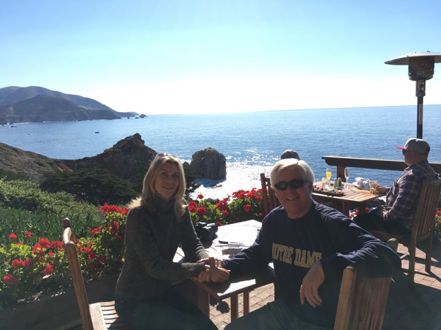 Lunch overlooking the Pacific Ocean at Rocky Point Restaurant, south of Carmel-by-the-Sea