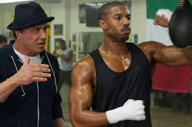 Sylvester Stallone and Michael B. Jordan in his Oscar nominated role in Creed, Creed, Sylvester Stallone, Rocky Balboa, Rocky, Michael B. Jordan, Oscars, Academy Awards, Best Supporting Actor, Best Actor in a Supporting Role, Trueheartgal
