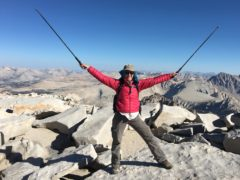 At the summit of Mt. Whitney. Mount Whitney.