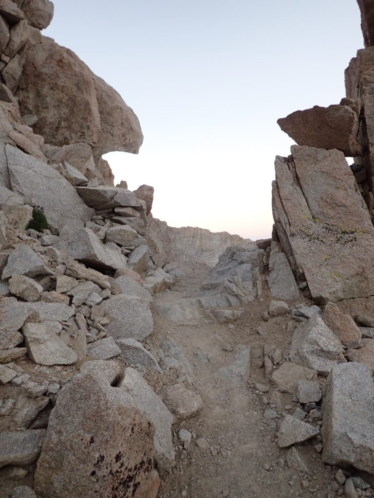 Mt. Whitney's trail requires some hand-to-hand in some places to keep balance. Mount Whitney. Mt. Whitney. Trueheartgal.