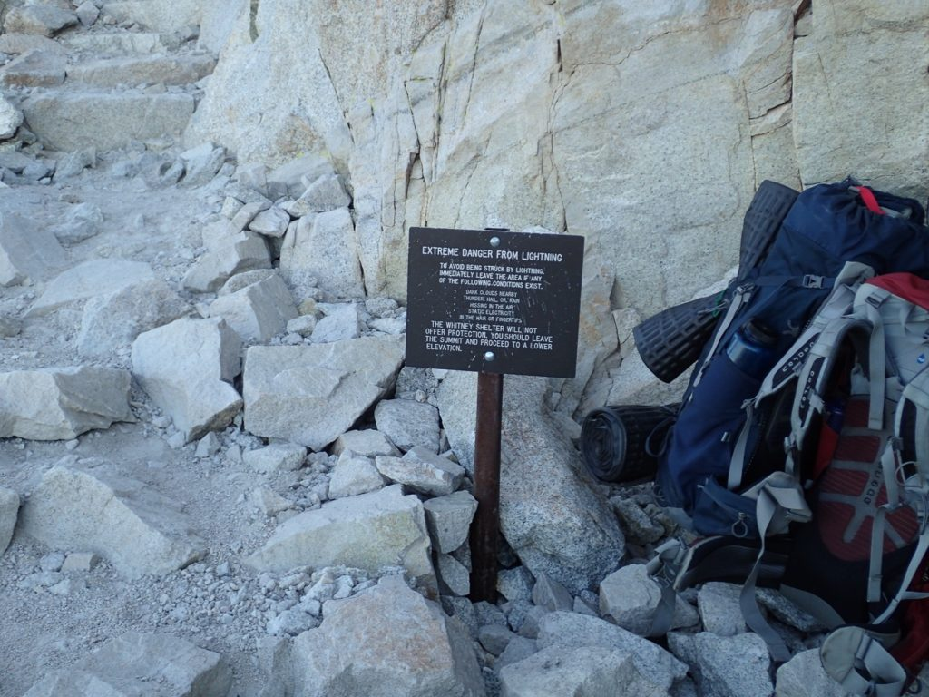 A sign full of warnings. Life lessons from climbing the highest peak in the lower 48 - Mount Whitney